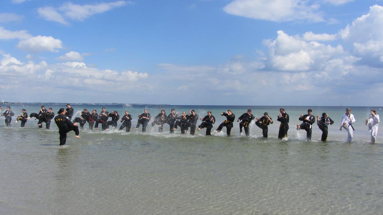 Strandtraining vom GK Sommercamp 2014