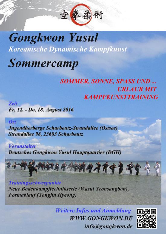 Kampfsport Gongkwon Yusul Sommercamp 2016